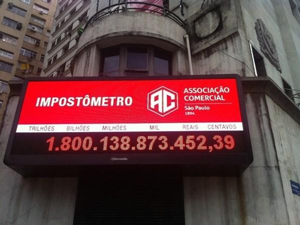 Imagem de Impostômetro: Até outubro, brasileiro pagou R$ 1,8 trilhão em impostos