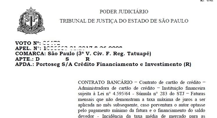Imagem de ANDIF vence ação contra Porto Seguro por cobrança abusiva de juros  no cartão de crédito