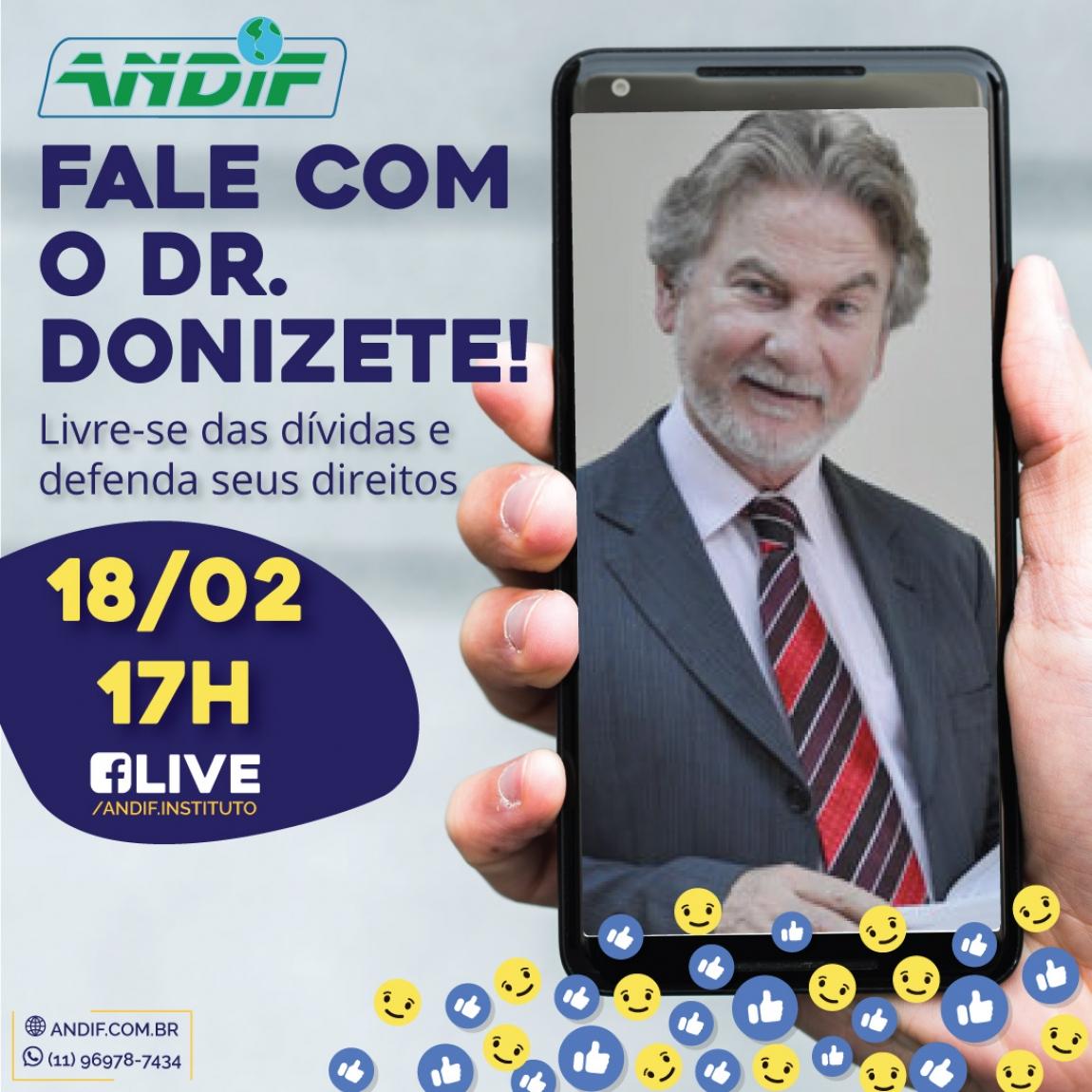 Imagem de Participe da live do Dr Donizete no dia 18/02 no Facebook!